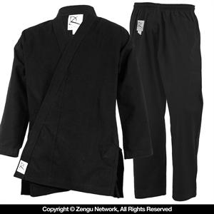 Heavyweight (11 oz.) Black Karate Uniform